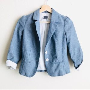 Anthropologie Sparkle & Fade blue blazer - XS